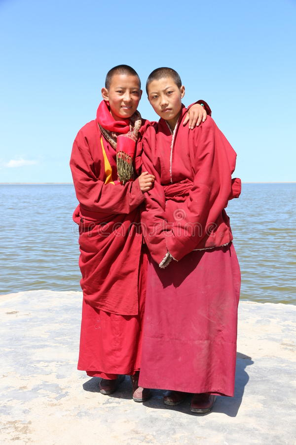 Тибетское паломничество на озере Цинха в 2015 стоковые изображения