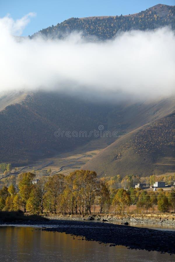 тибетское село стоковое фото