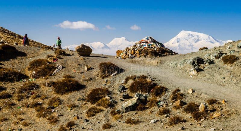Тибет Kora вокруг Mount Kailash стоковая фотография