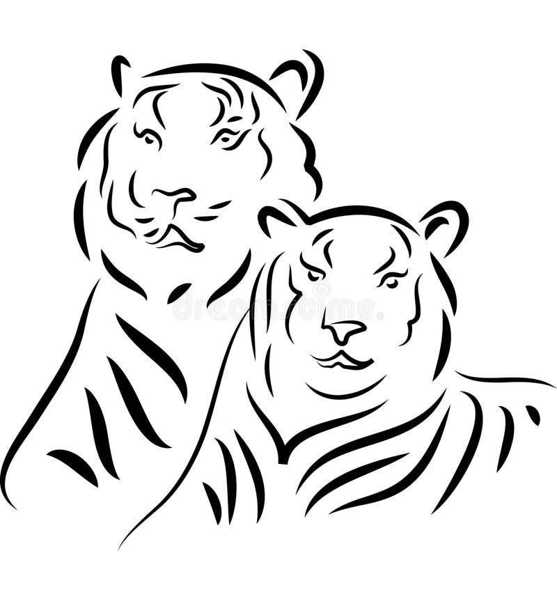 тигры бесплатная иллюстрация