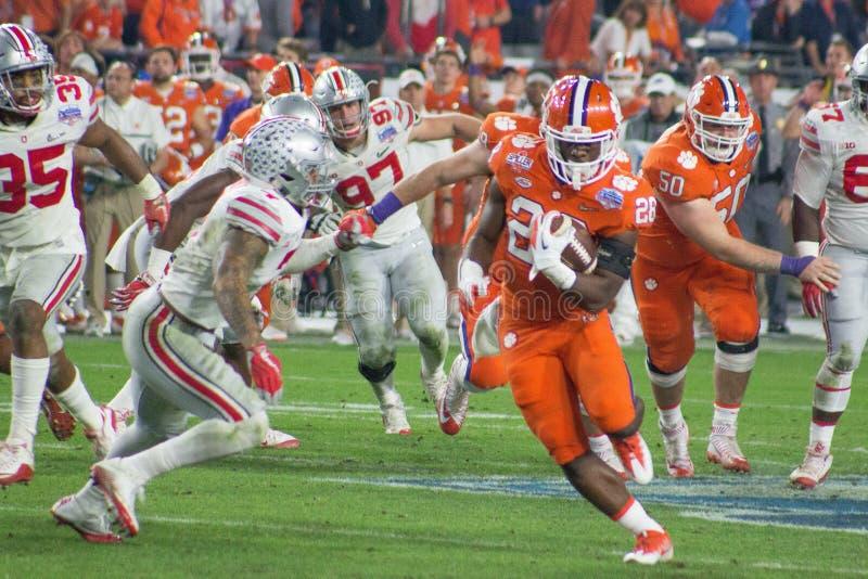 Тигры Clemson футбола NCAA на шаре фиесты стоковое изображение