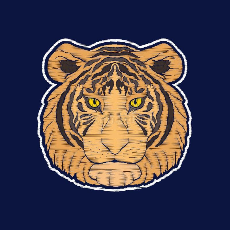 Тигр Вышивка bages заплаты fachion бесплатная иллюстрация