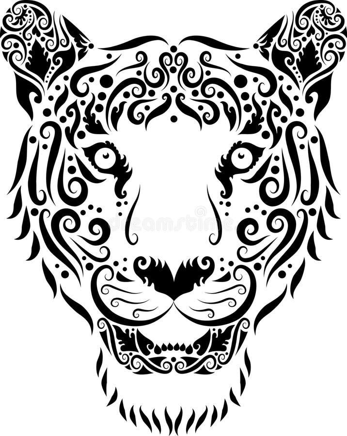 тигр головного орнамента иллюстрация вектора