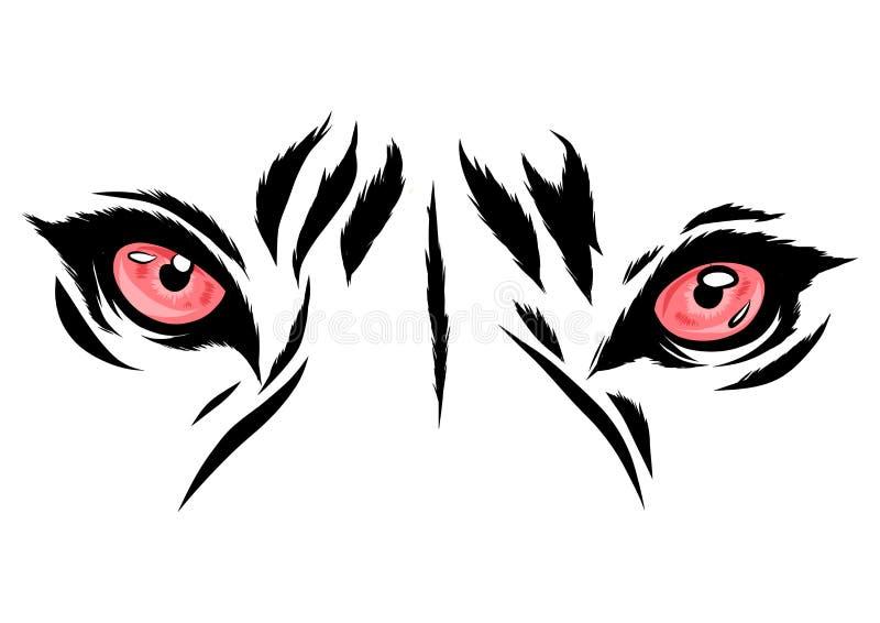 Тигр иллюстрации вектора наблюдает график талисмана в белой предпосылке иллюстрация вектора