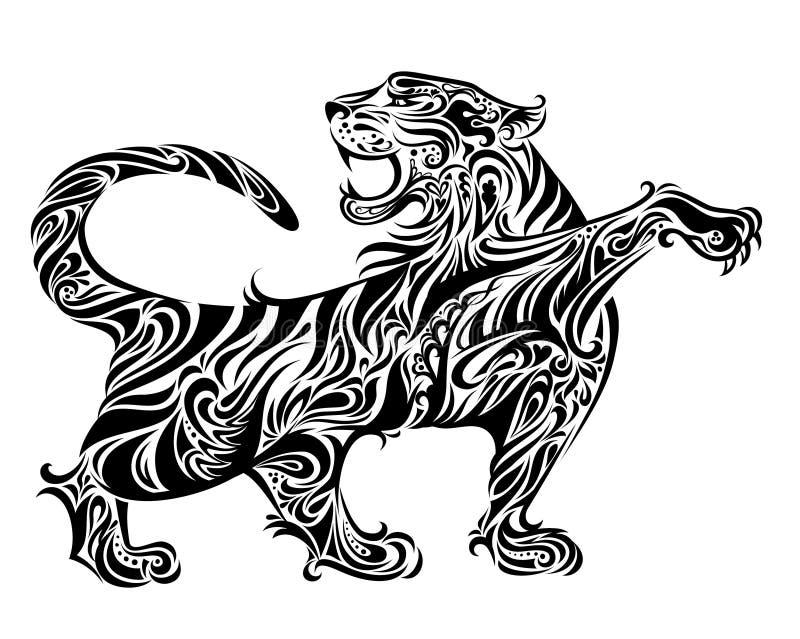 тигр иллюстрации иллюстрация штока