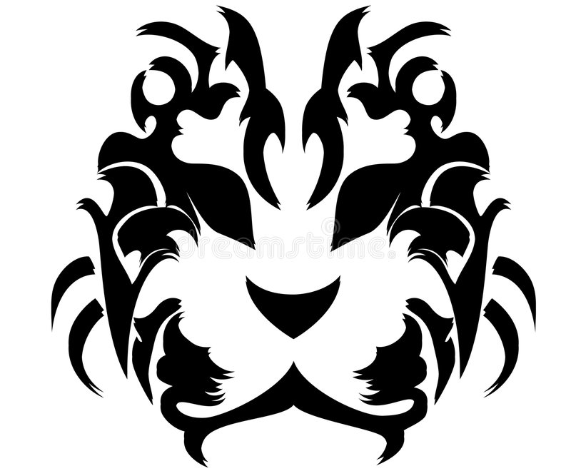 тигр маски иллюстрация штока