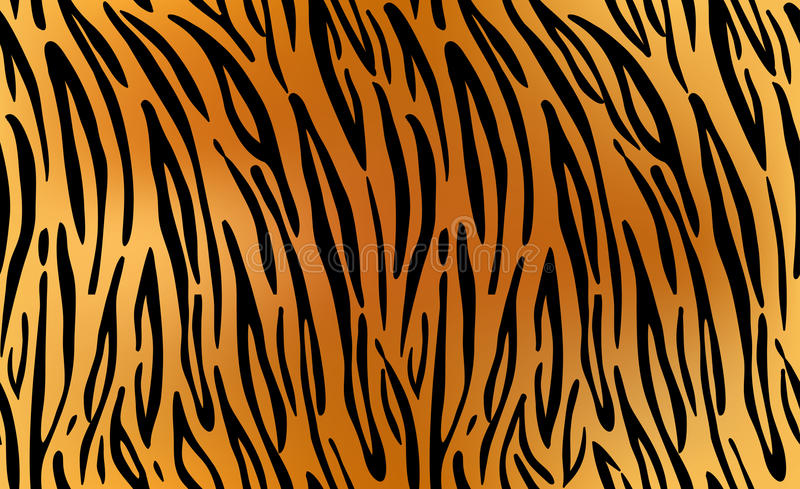Тигр Повторять текстуры картины безшовный иллюстрация вектора
