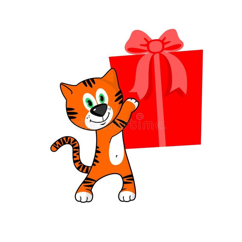 тигр подарка бесплатная иллюстрация