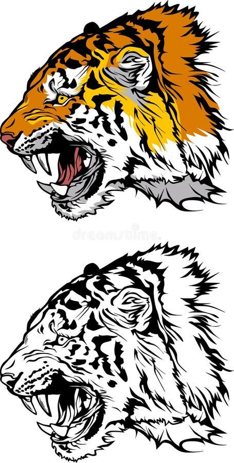 тигр талисмана логоса иллюстрация вектора