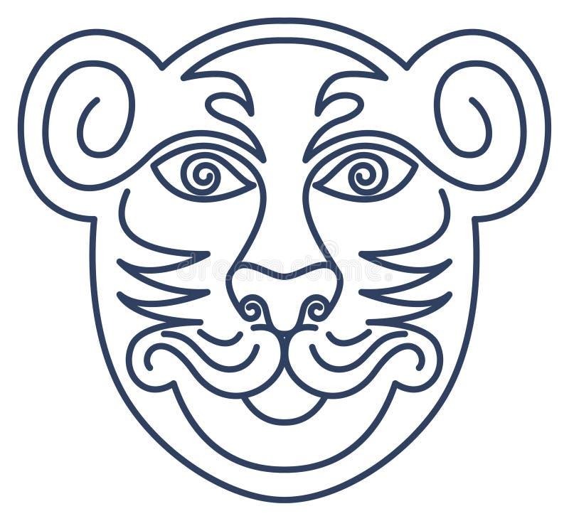 тигр уважения маски бесплатная иллюстрация