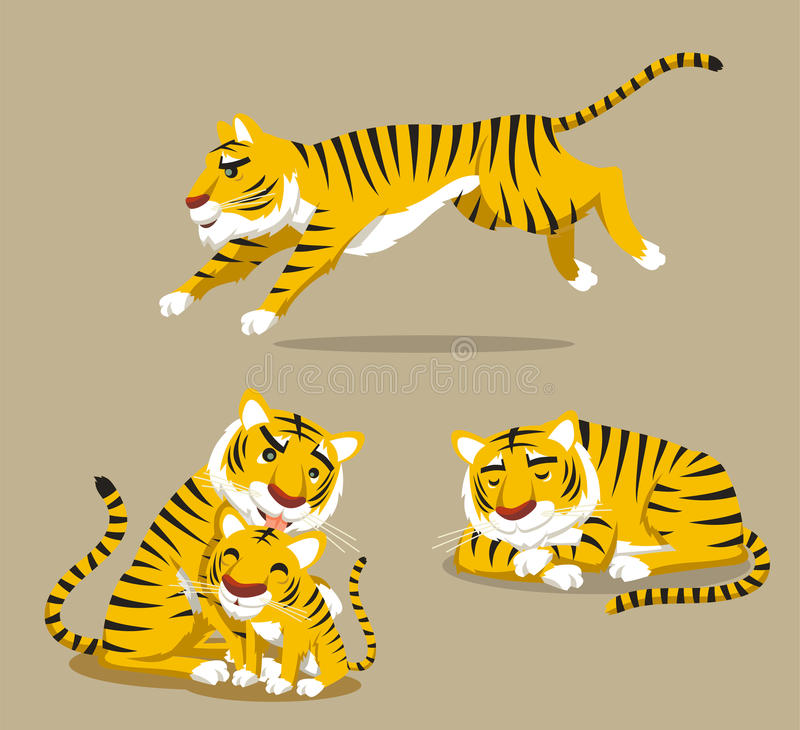 Тигр установил 2 иллюстрация штока