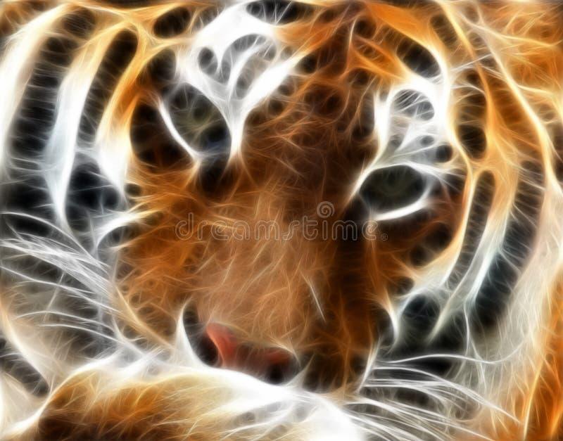 тигр фрактали иллюстрация штока