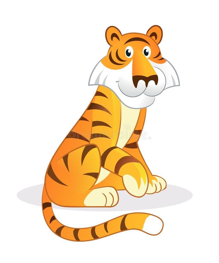 тигр шаржа иллюстрация вектора