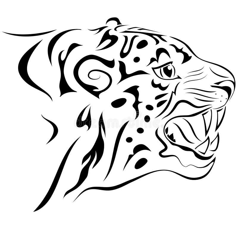 тигр tattoo иллюстрация вектора