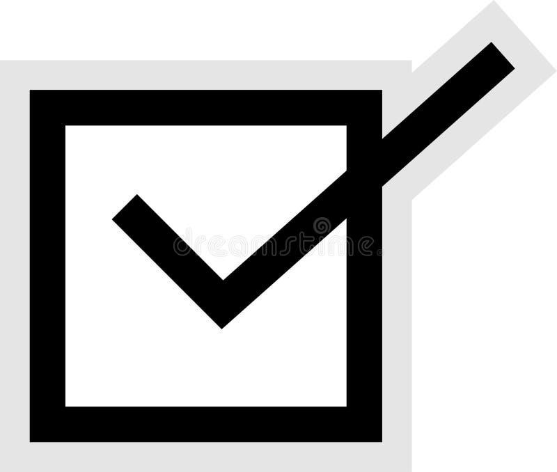 тикание иконы коробки иллюстрация штока