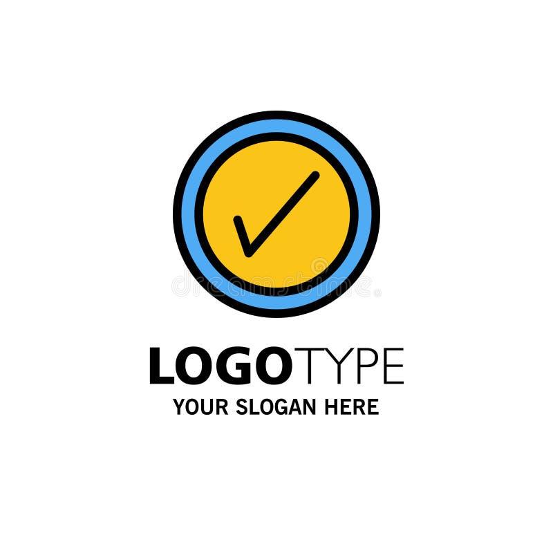 Тикание, интерфейс, шаблон логотипа дела потребителя r иллюстрация штока