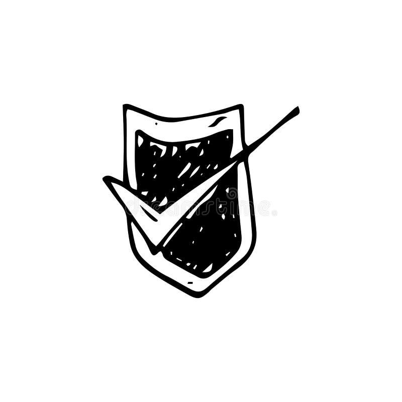 Тикание руки вычерченное на doodle экрана r r r r r бесплатная иллюстрация