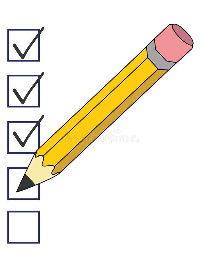 Тикания карандаша иллюстрация штока