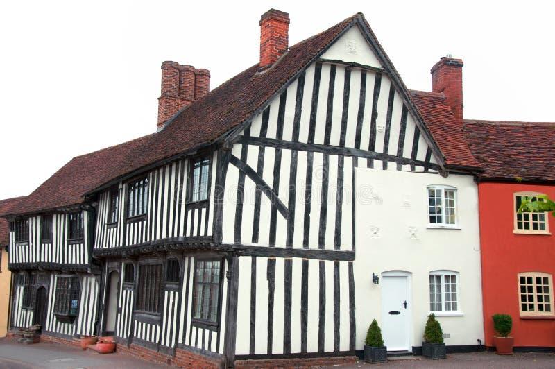 тимберс lavenham обрамленной дома Англии стоковые фотографии rf