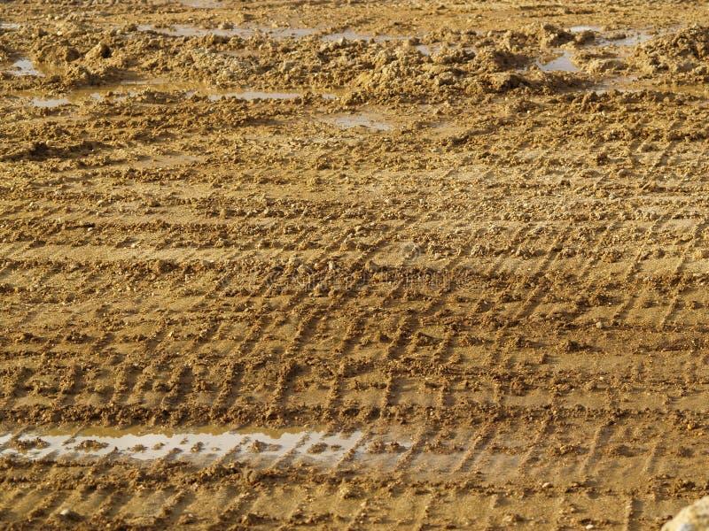 Тинные следы на месте производства работ стоковая фотография rf