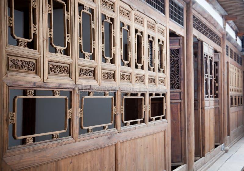 Типичная китайская дом старого типа деревянная стоковые фото