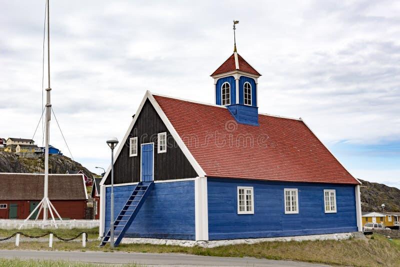 Типичная старая Greenlandic церковь стоковые изображения rf