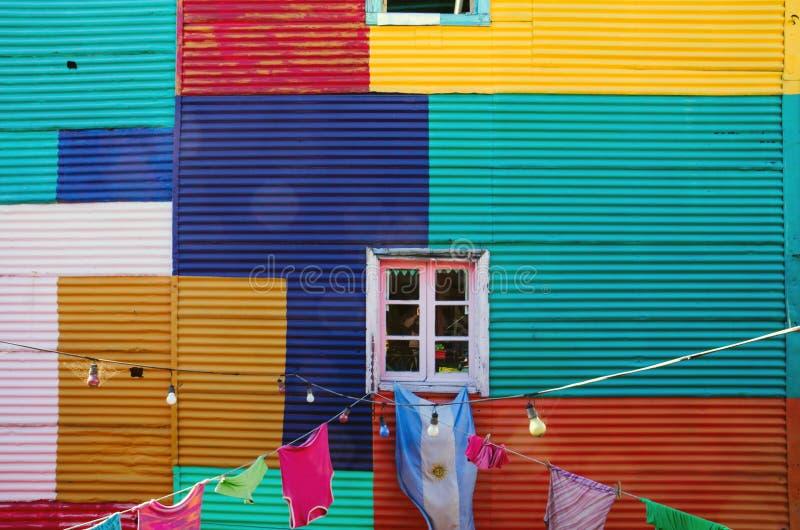 Типичная стена в Ла Boca стоковое изображение rf
