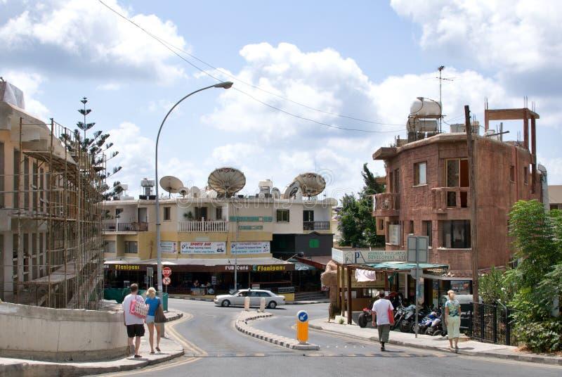 Типичная улица в Paphos стоковое изображение