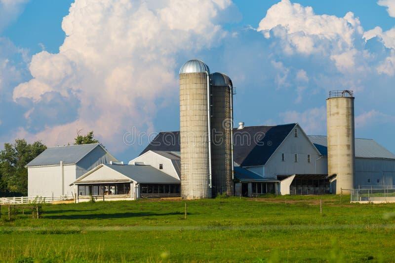Типичная ферма Lancaster County Амиша стоковые изображения rf