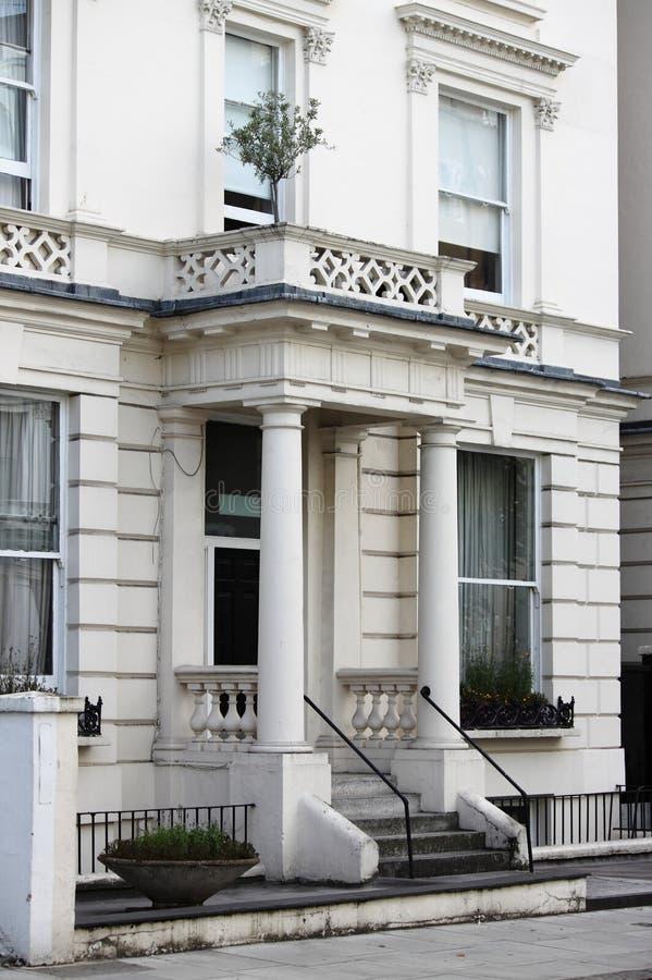 Типичное грузинское townshouse стиля в Лондоне стоковые фотографии rf