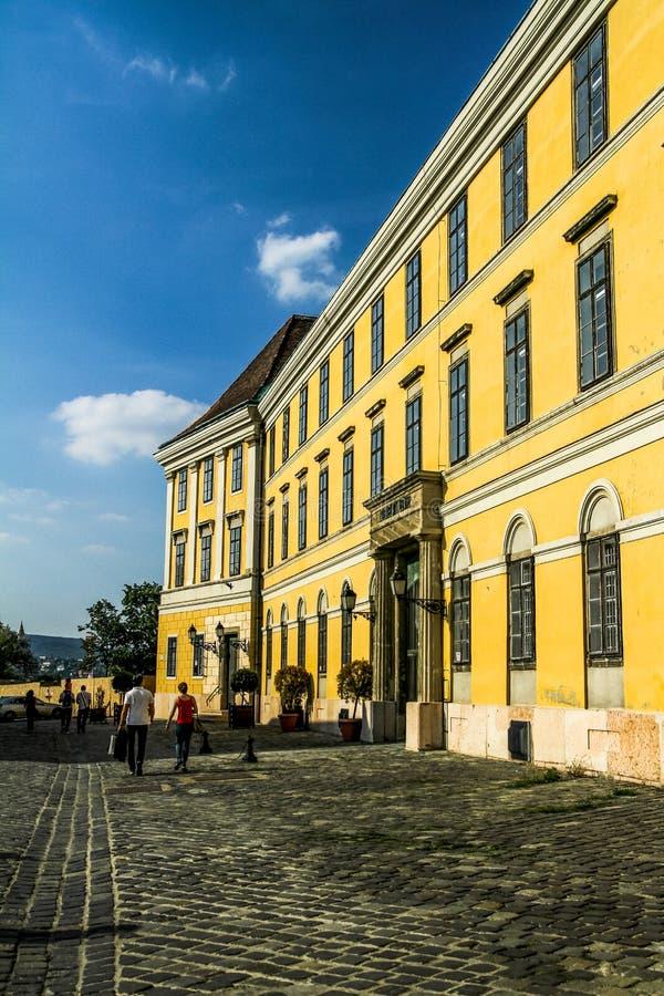 Типичное красочное здание Будапешта стоковое фото