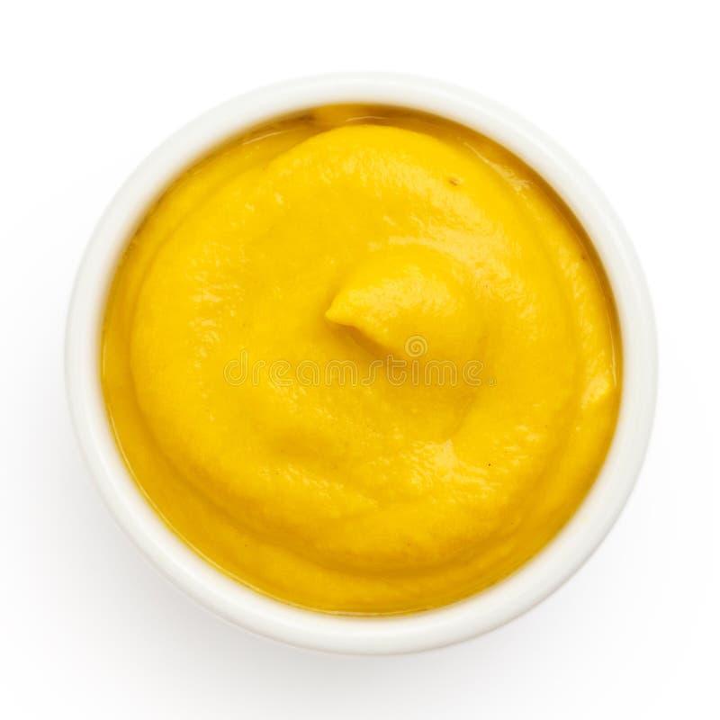 Типичный американский ровный желтый мустард стоковые фотографии rf
