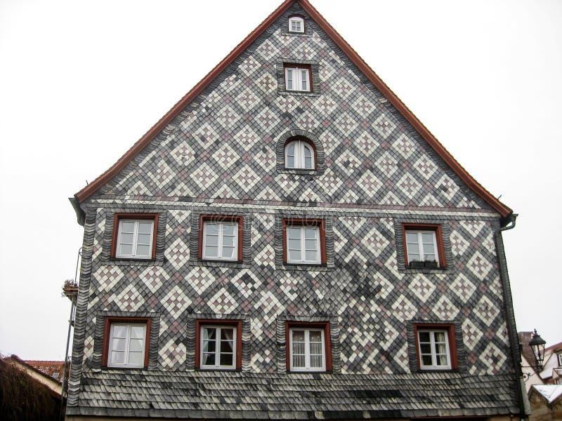 Типичный баварский дом, Furth, Германия стоковая фотография rf
