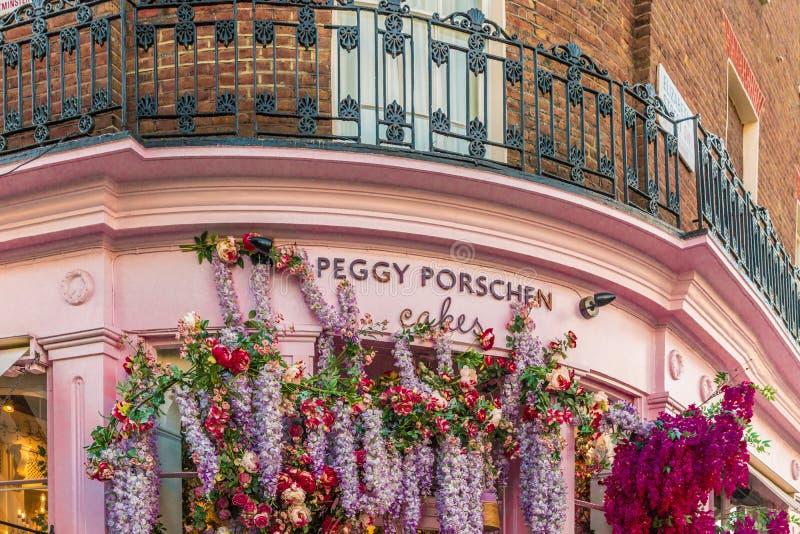 Типичный взгляд в Belgravia в Лондоне стоковое изображение