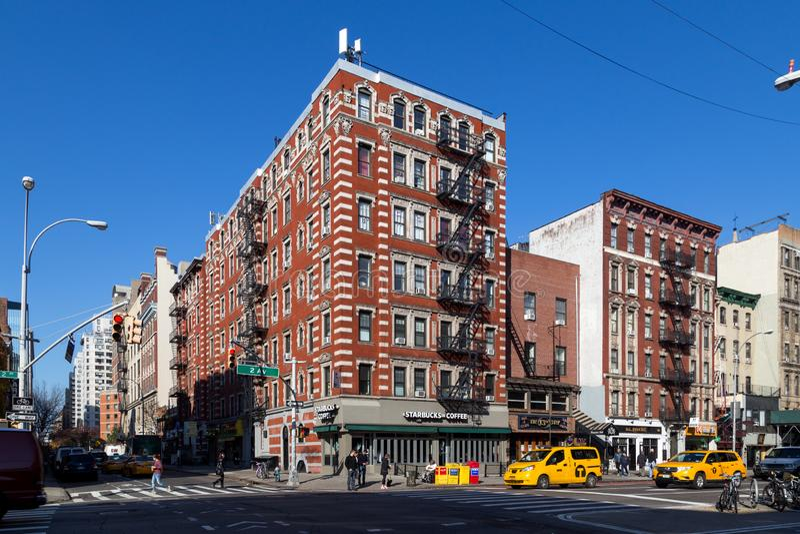 Типичный дом в Нью-Йорке стоковые изображения rf