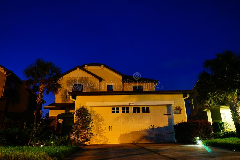 Типичный дом в Флориде стоковое фото