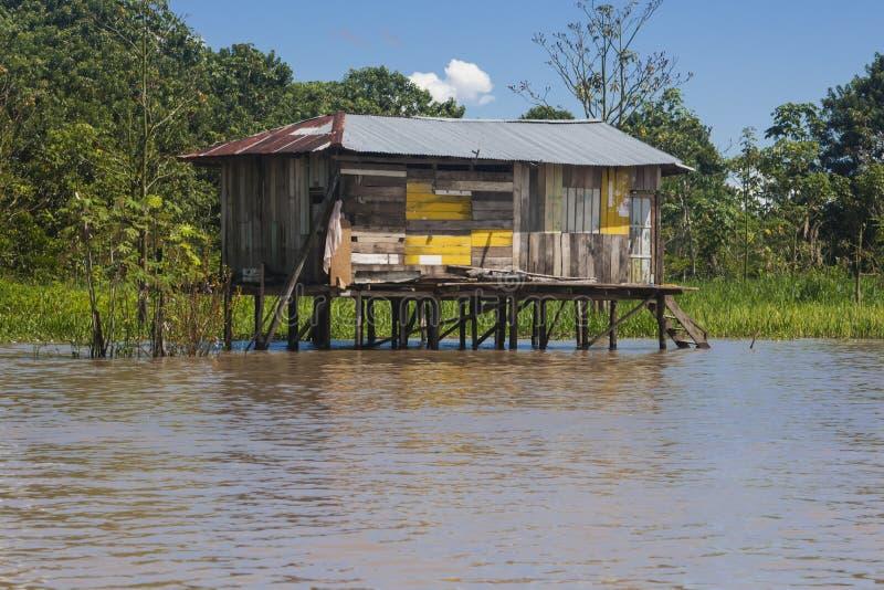 Типичный дом Амазонкы (Амазония) стоковая фотография