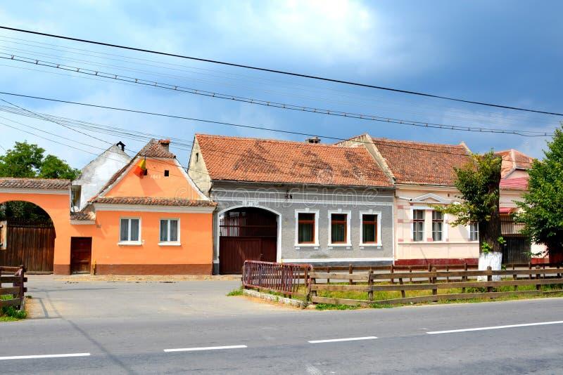 Типичный дом в Vulcan, Трансильвании стоковое изображение rf