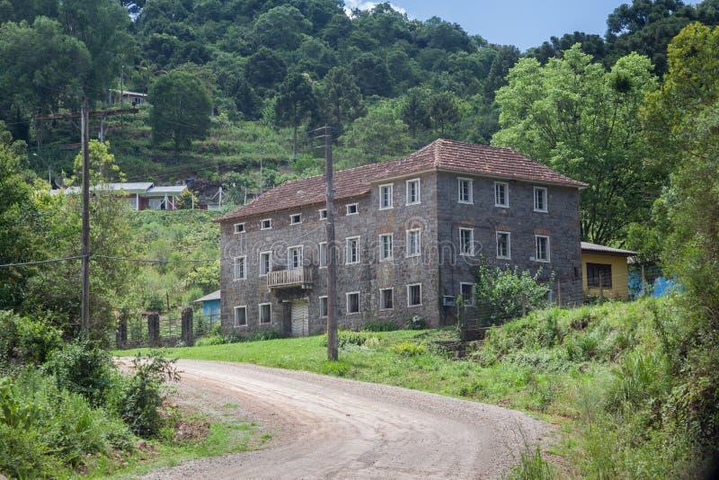 Типичный дом Bento Goncalves Бразилия стоковые изображения