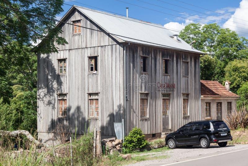 Типичный дом Bento Goncalves Бразилия стоковая фотография rf