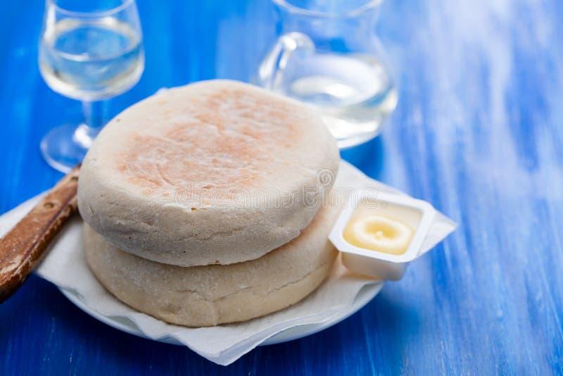 Типичный португальский хлеб Bolo Мадейры делает caco стоковая фотография