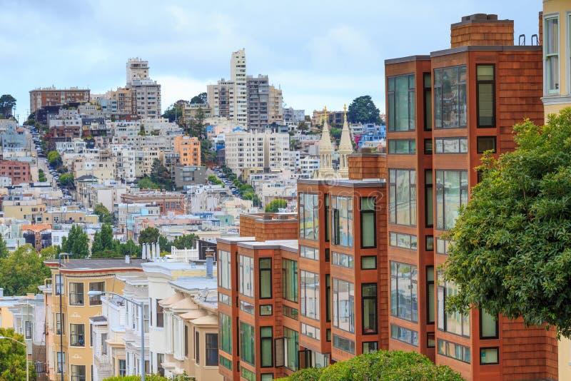 Типичный район Сан-Франциско стоковое изображение rf