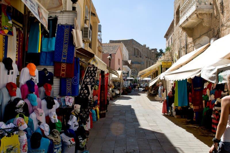 Типичный старый переулок в Famagosta стоковое изображение