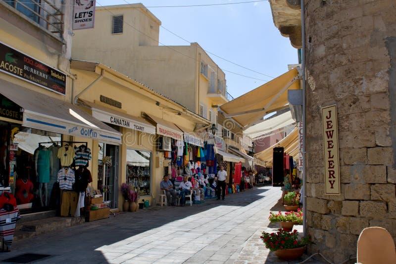 Типичный старый переулок в Famagosta стоковая фотография