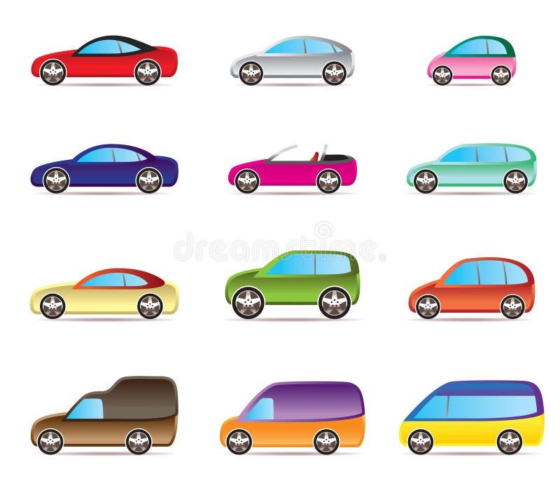 типы автомобилей популярные иллюстрация вектора