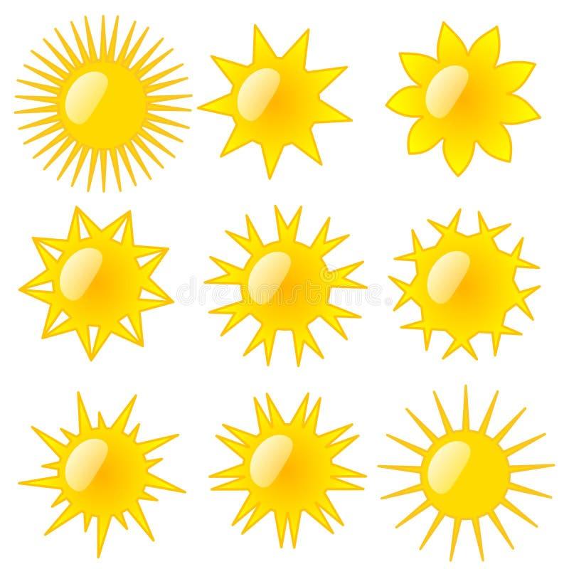 Типы Солнця стоковые изображения rf