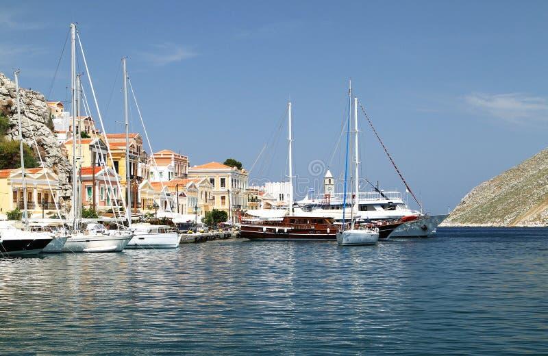 Типы столицы острова Symi 1 стоковое фото rf