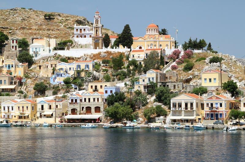 Типы столицы острова Symi 2 стоковые фотографии rf