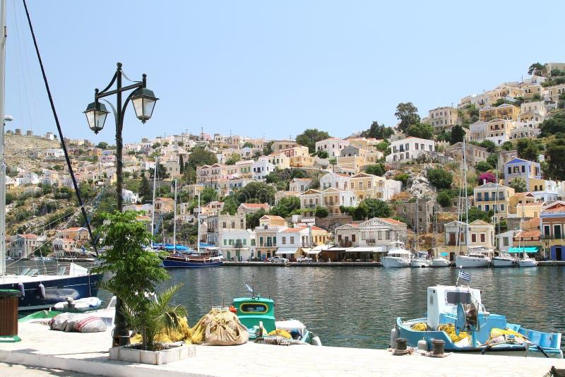 Типы столицы острова Symi 5 стоковые фото