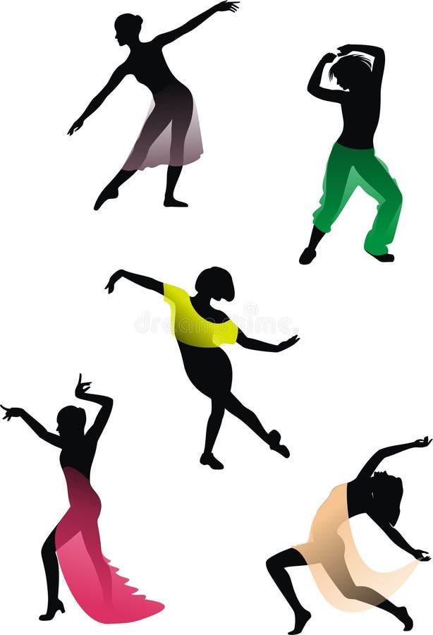 типы танцульки иллюстрация вектора